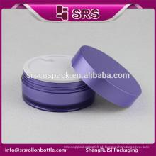SRS amostra livre vazio forma redonda 4oz cremes de corpo creme de plástico