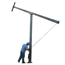 Octagonal steel mid hinged lighting pole