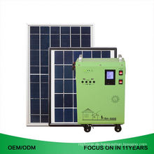 Portable Schwarz und Blau Stahl Box Haus 600 Watt Solar Panel System