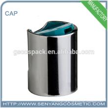 fashion style aluminium material cap top buttons disc top cap