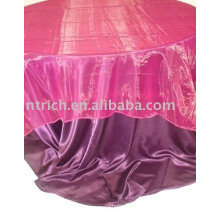 Атласная ткань скатерти, отель/ресторан скатерть, таблица оверлея