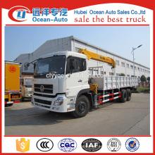 Dongfeng kinland 6x4 pesado camión hidráulico de 10 toneladas con la grúa para la venta