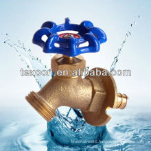 Boiler drain water brass shut-off stop valves blue handle Lead free
