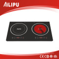 Double Burners Induction & Infrared Cooker for Family Kitchen (SM-DIC07)