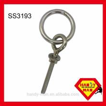 Accessoire matériel Boulon à anneau en acier inoxydable 304 avec un écrou et une rondelle