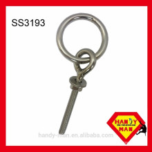 Hardware accessory Stainless Steel 304 Ring Bolt With One Nut and One Washer