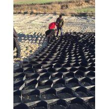 Geocell HDPE anti-intemperismo para proteção de taludes e construção de fundações