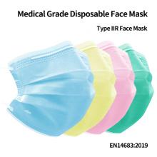 Máscaras faciais médicas antivírus BFE 98%