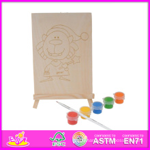 2014 New Play Kids Wooden Toy for Painting, Popular DIY Children Toy for Painting Set, Educational Baby Toy for Painting W03A046