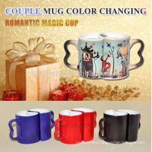 Sublimation Couple Mug, ceramic couple mug,magic color changing mug