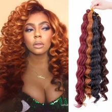 Synthetic Hair Bulk Deep Wave Crochet Hair Extension