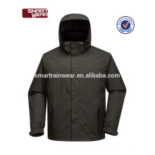Coupe-vent noir simple coupe-vent imperméable à l'eau de course des hommes de sport veste