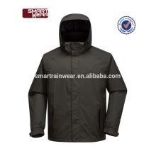 Plain Black Wind breaker Windproof Waterproof Running Sports Men Jacket