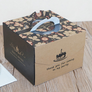 Wholesale kraft birthday cake box