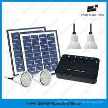 Système d'éclairage maison solaire portable avec chargeur de téléphone