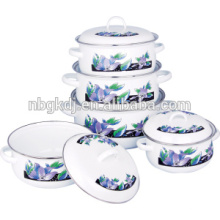 Эмалированная посуда вершина запеканка комплект с двойной ручкой для еды теплый