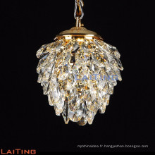 Pin cône design nouveaux produits chinois k9 cristal or lustre pendentif lumière 71137