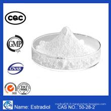 Stéroïdes hormone estrogénique en vrac poudre blanche Estradiol