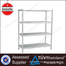 High-End Fabricated 4 Layers Stainless Steel Commercial Kitchen Shelf