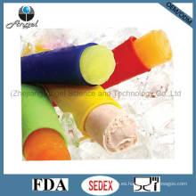 Molde de hielo de silicona de grado alimenticio para Popsicle, helado, pudding y Lollipop Si16
