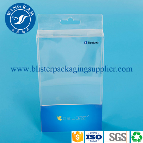 Eco Friendly Frosted Rectangular Plastic Business Case Packaging Box