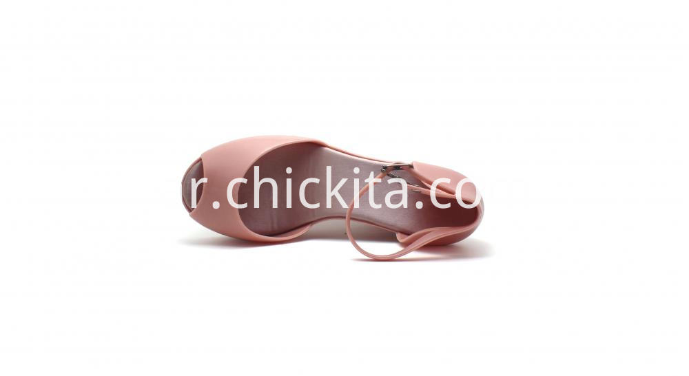Womens Open Toe Matte Pvc Wedge