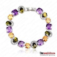 Le plus récent bracelet en zircon cubique pour femme Pulseras Mujer (CBR0003-B)
