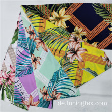 Four Way Spandex Lily Print Stoff