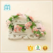 Meninas flores hairband para decoração de casamento wisterias artificiais acessório do casamento