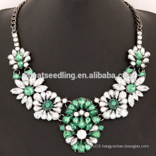 New arrival big resin flower big necklace for women