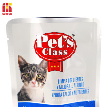 Cat Treat Food Packaging Stand-Up Pouch Bolsa de aluminio