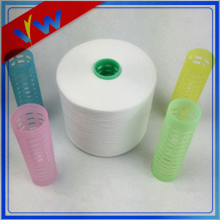 Raw white 100% spun polyester yarn 50/2