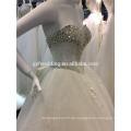Designer-Spitze-Hochzeits-Ballkleid-Schatz-Ausschnitt-späteste Art- und Weisekleider schwere bördelnde Bogen-rückseitige Brautkleider A102