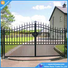 2017 new design modern iron gate designs / tubular gate design / security used wrought iron door