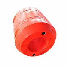 Flotador plástico antiwave del tubo del mdpe de los ciervos para el tubo de dragado