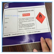 Baja viscosidad Excelente resina de poliéster de resistencia mecánica para pultrusión