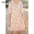 Women's Clothing Casual Linen Summer Custom Mini Dress For Ladys