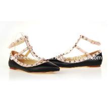 2016 Hot Sale Lambskin Flat Dress Shoes (HCY02-415)