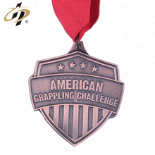 Custom emboss own design metal American Grappling sports medal
