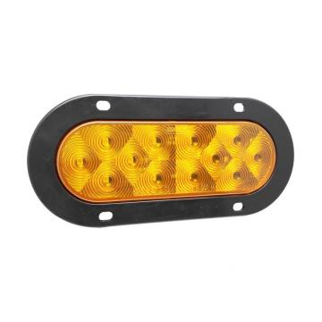 "6 ""Oval Amber LED Tren Remolque Indicador Turn Lámparas"