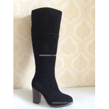 Latest Fashion High Heels Winter Rubber Leather Lady Boots