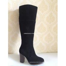 Ultimas sapatilhas de couro de borrachas de inverno de salto de moda