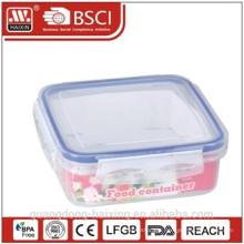 Square plastic airtight food storage container