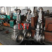 Нержавеющая сталь служила фланцем запорная заслонка с гибким клином для АЗС