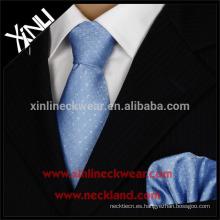 Corbata y pañuelo de seda al por mayor tejidos a mano al por mayor 100% hechos a mano del telar jacquar