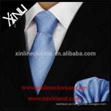 Nó perfeito 100% Handmade Jacquard tecido atacado gravatas de seda e lenço
