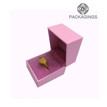 Luxus rosa Ehering Box Ring Box Samt