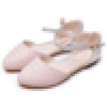 Mulheres moda sapatos vestido 2016 Summer Ladies fechado toe plana sandálias