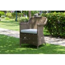 Trendy Resistant Coffee Dining Chair Polyethylene Rattan Wicker Furniture
