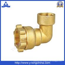 Codo de latón de acoplamiento de tubería de compresión de ajuste (YD-6052)